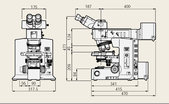双筒式显微镜结构图倾斜式